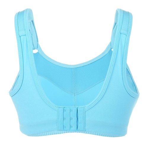 La Isla - Sujetador Deportivo de Alto Impacto Sin Aros Para Mujer azul