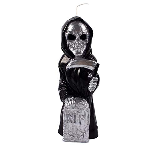 Silicone Soap Candle Mold Skull Skeleton Tombstone Graveyard Halloween Terror Ghost -