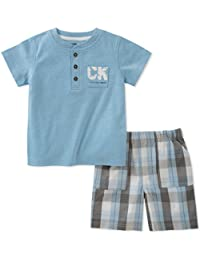 Baby Boys 2 Pieces Bodysuit Shorts Set