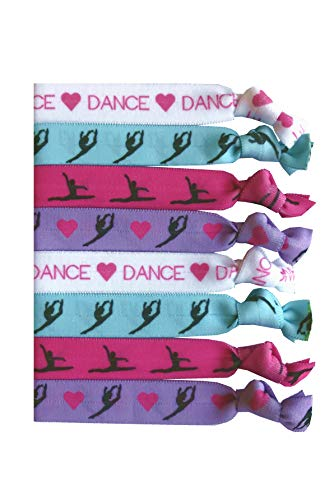 8 Piece Dance Hair Elastic Set - Accessories for Dancers, Women, Girls, Dance Teachers, Dance Classes - MADE in the USA