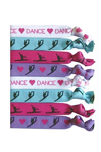 (8 Piece Dance Hair Elastic Set - Accessories for Dancers, Women, Girls, Dance Teachers, Dance Classes - MADE in the)