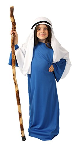 Bible Women Costumes (Alexanders Costumes Story of Christ Biblical Gown Child Costume, Dark Blue, Small)