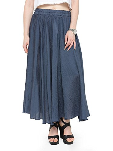 Dress Skirt Indian Long Style Waist Handicrfats Women's Export Band Elastic Maxi Bohemian Linen Cotton w7r6OBwq