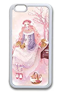 Anime Girl Winter Cute Hard Cover For iphone 5c Case TPU White Cases