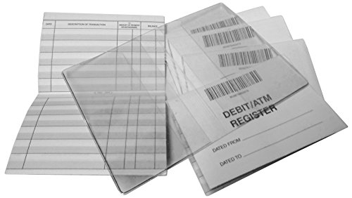 Debit ATM Mini Checkbook Registers Set of 12 w/ 1 Free Cover (The Best Debit Card)