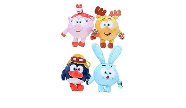 Amazon.com: Plush Toys penguin rabbit deer pig 4pcs/Set , 3 ...
