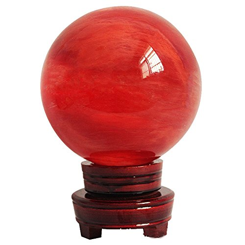 Amlong Crystal Clear Crystal Ball 80mm Including Wooden Stand - 2