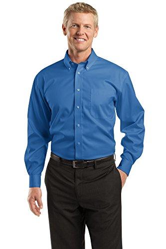 (Red House Men's Dobby Non Iron Button Down Shirt XXL Medium Blue)