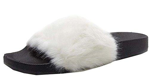 Pantofola Booboo-01 Bianca Di Qupid Donna