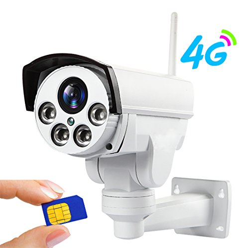 960P 3G 4G SIM Card Camera Wifi Outdoor PTZ HD Bullet Camera Wireless IP Security Camera IR 50M 5X Zoom Auto Focus 32G TF Card CCTV Camera Surveillance Camera Rotating