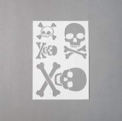Efco Stencil Skull/4 Designs Din, Plastic, Transparent, A 5 9320759
