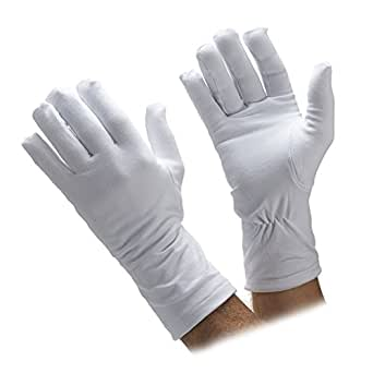 Honor Guard Heavy Cotton Winter Lined Parade Gloves at