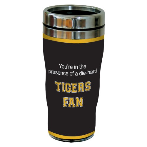 Tree-Free Greetings sg24496 Tigers College Football Fan Sip 'N Go Stainless Steel Lined Travel Tumbler, 16-Ounce ()