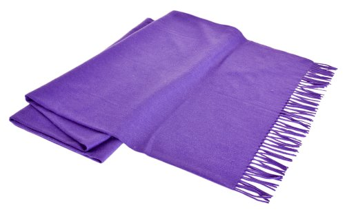 - Creswick All Natural Cashmere/Lambswool Fringed Throw, 51 by 73-Inch, Plum