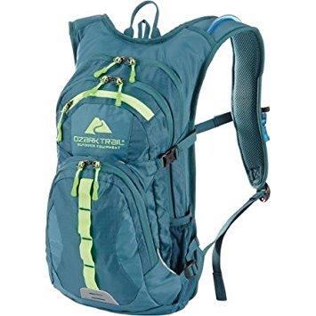 Ozark Trail Riverdale Hydration Backpack Camping Hiking Bag Pocket Blue 23 Liter