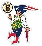 """BOSTON Fan Sport Flag Logo 11""""x12"""" Sticker Decal Vinyl Bruins Patriots Celtics Red Sox"""