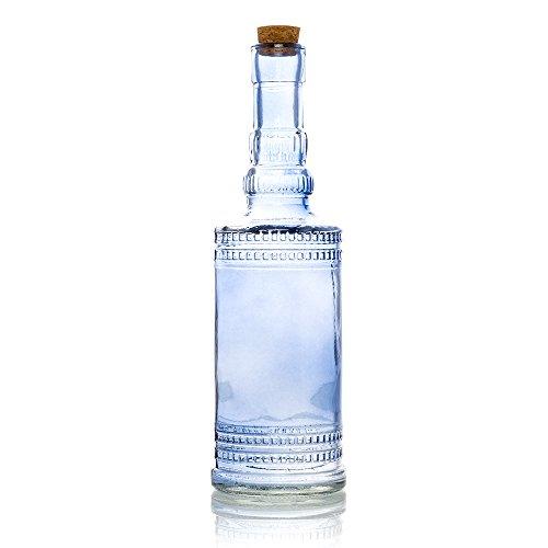 Lavender Vintage Glass (Quasimoon PaperLanternStore.com Camila Lavender Vintage Glass Bottle Glassware Flower Vase)