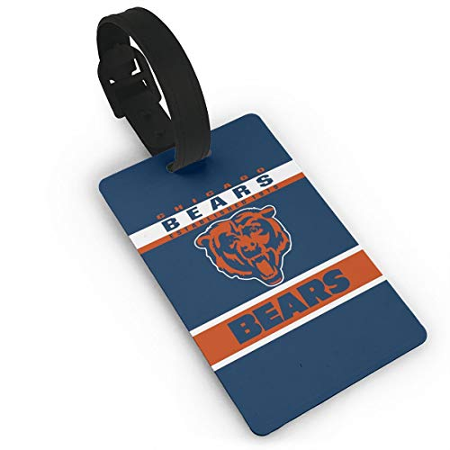 MamaTina Custom Luggage Tag Chicago Bears Suitcase Labels ID Tags Business Card Holder Set for Bags & Baggage ()