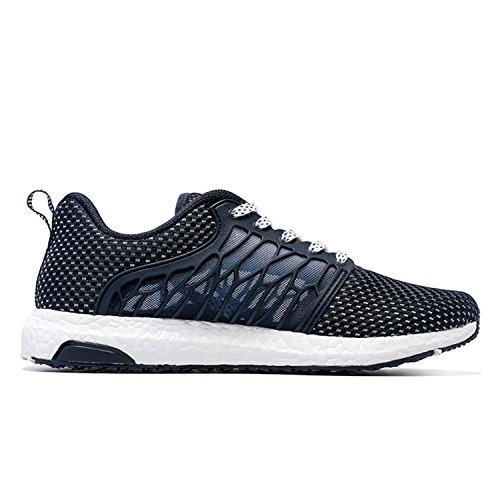 Onemix Loopschoenen 2017 Ademende Schoenen Comfortabele Sneakers Mannen Vrouwen Unisex Schoenen Zomer Donkerblauw