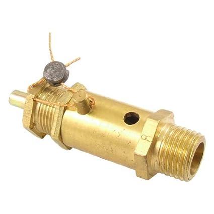 eDealMax 1/4 PT hilo de seguridad de presión Válvula de alivio de metal para