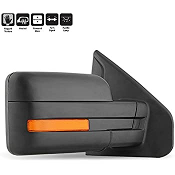 For 2007-2014 Ford F150 Pickup Extending Towing Power Heated w/Amber LED Signal Mirrors Passenger Right Side