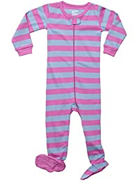 """Footed """"Striped Baby Girl"""" Pajama Sleeper 100% Cotton (Size 6 Months-5 Toddler)"""