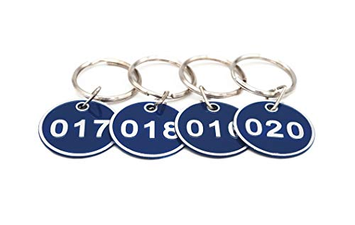 - Aluminum Alloy Metal Key Tag Set, Number ID Tags Key Chain, Numbered Key Rings, 50 Pieces - Blue -1 to 50
