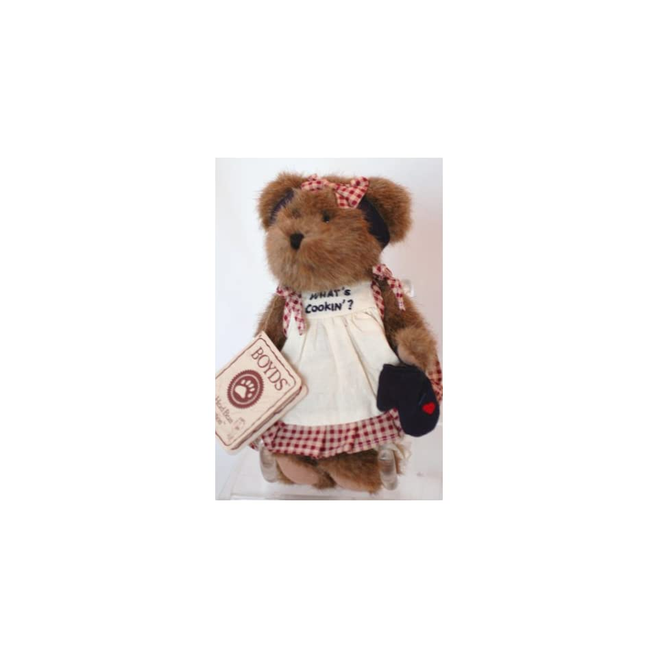 BOYDS BEAR Head Bean Collection   Whats Cookin   Lil Miss Muffin