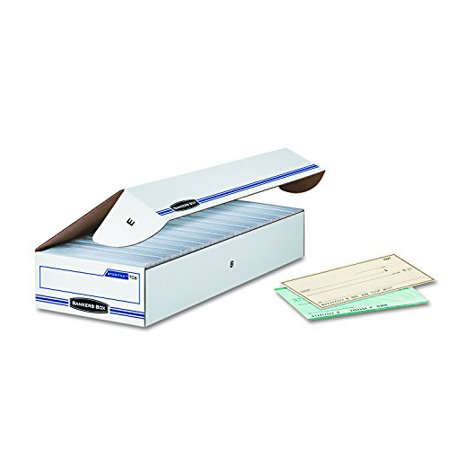 Bankers Box STOR/FILE Check Boxes, Standard Set-Up, Flip-Top Lid, 4 x 9 x 24 Inches, Case of 12 (00706)