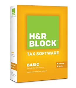H&R Block Tax Software 2013 Basic + State [OLD VERSION]