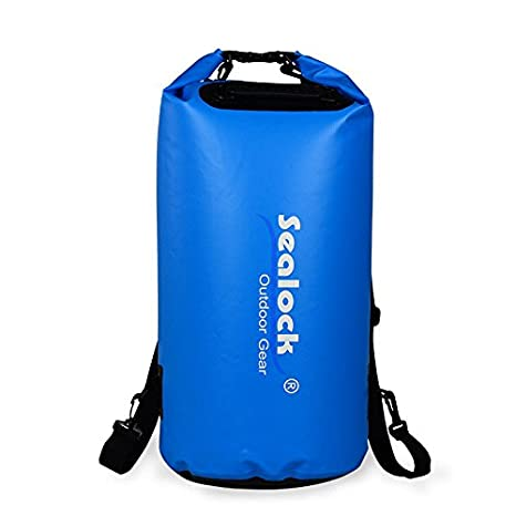 Sealock impermeable bolsa seca Premium con hinchable dispositivo 20L Roll Top Dry – Bolsa de compresión