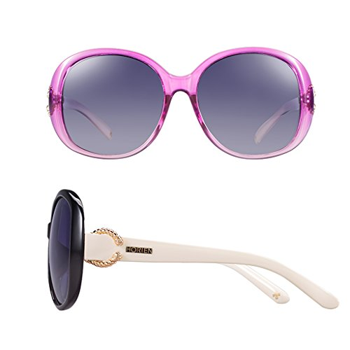 Mesdames de lunettes cadre soleil grand polarisées Pink r8rwqHxUz