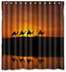 66W X 72H 100 Polyester Camel Sunset