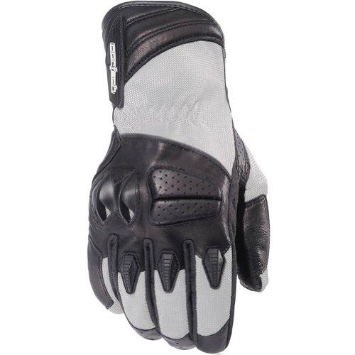 Cortech GX Air 3 Men's Mesh Street Bike Motorcycle Gloves - Silver / Large