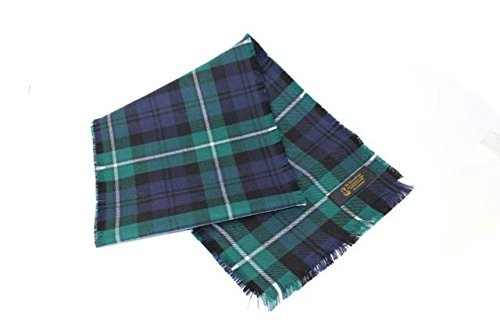 House of Edgar Authentic Tartan 100% Wool Plain Full Fringed Sash - Dress Watch