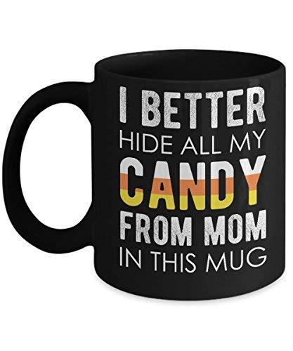 Lplpol Halloween Candy Mug Funny Kids Quote Sweet Coffee Mug -