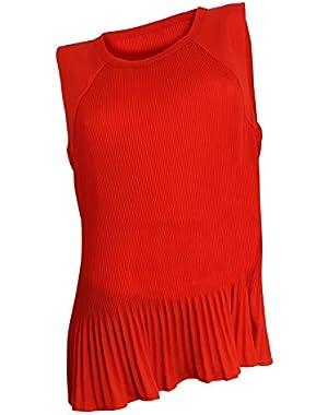 Calvin Klein Women's Red Sleeweless Knit Top