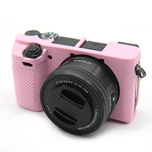 Price comparison product image Case Sony Camera Bag A6300 A6000 Cover Silicone Protector (Pink)