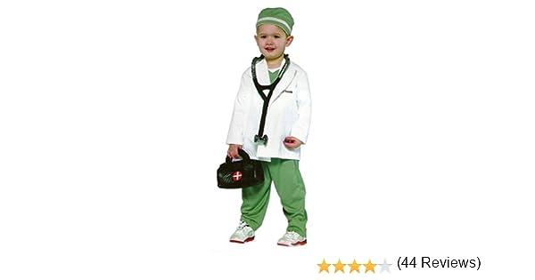 Disfraz de 4 piezas para niños – Medico, Doctor, bata de medico ...