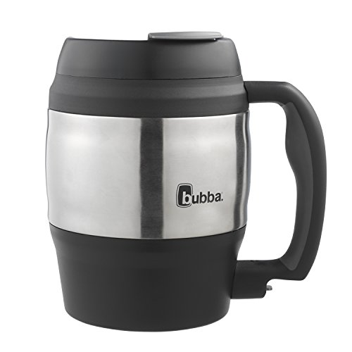 Large Plastic Mug - Bubba Classic Insulated Desk Mug, 52 oz, Black