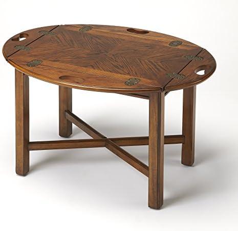 BUTLER CARLISLE VINTAGE OAK BUTLER TABLE
