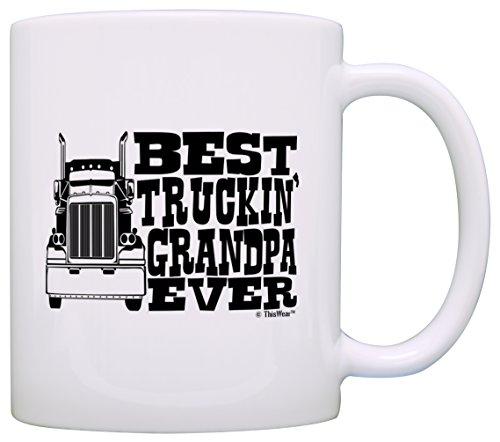 Fathers Truckin Grandpa Driver Trucker