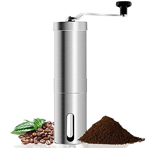 Review Of Coffee Grinder, Aessdcan Manual Coffee Mill, Mini Portable Home Kitchen Travel Stainless S...