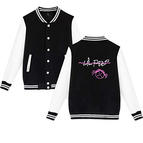 Donna Baseball Con Uniforme Besthoo Cardigan Giacca Peep Popolare Black1 Da Moda Cappotto Pile Lil Sweatshirt EqXUq0