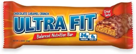 ULTRA FIT Chocolate Carmel Crunch 24g Protein Bar – 12 Count
