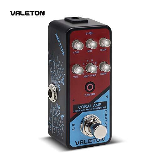 Valeton Amp Modeler Guitar Pedal Coral Amp of 16 Classic