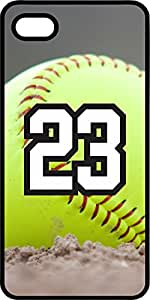 Softball Sports Fan Player Number 23 Black Rubber Decorative iPhone 6 Case