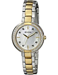 Bulova Womens 98R172 Diamond-Accented Watch