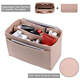 Purse Organizer, Felt Bag Organizer Insert For LV Speedy, Neverfull, Tote, Handbag,Shaper 6 Colors 3 Sizes (Medium, Beige)
