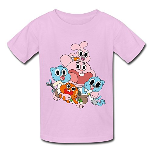 Kid's Cute The Amazing World Of Gumball T-shirts Size L Pink By Mjensen (The Amazing World Of Gumball The Castle)